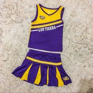 Little Girls LSU Tigers Cheerleader Uniform